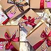 Коробка подарочная из крафт картона, 200х200х70 мм., фото 7