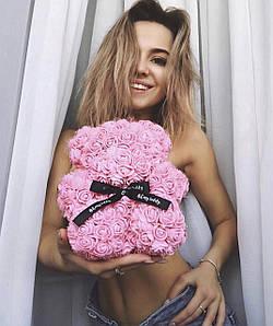 Мишки из роз.Лучший подарок для своих любимых.Размер 40см Мишка выполнен из 3D роз, цветы из фоамирана