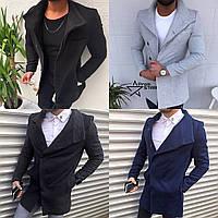 Мужское шерстяное (70%) демисезонное пальто 4 цвета в наличии f1cb660e60ef4