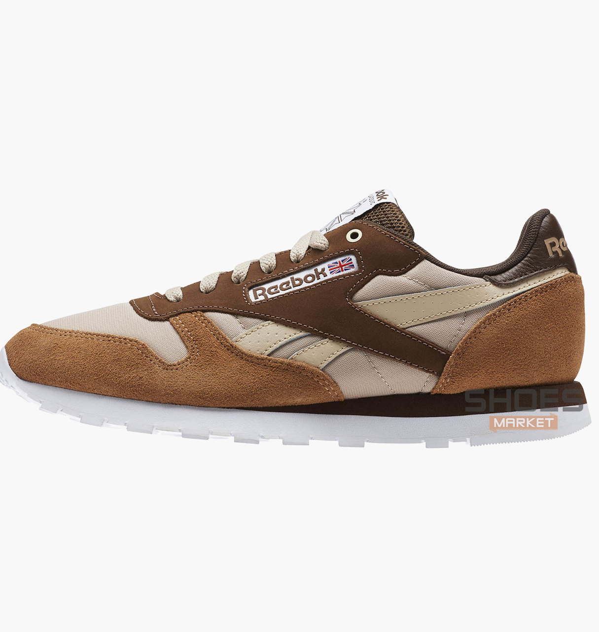 Женские кроссовки Reebok x Montana Cans Classic Leather Brown CM9610, оригинал