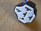 Колодка Фишка разъем проводки на 5 контактов для реле крест керамика с проводами разного цвета 120мм, фото 2