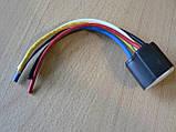Колодка Фишка разъем проводки на 5 контактов для реле крест керамика с проводами разного цвета 120мм, фото 8