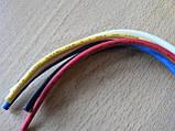 Колодка Фишка разъем проводки на 5 контактов для реле крест керамика с проводами разного цвета 120мм, фото 7