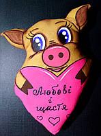 Кавова свинка з серцем. Магніт і підвіска., фото 1