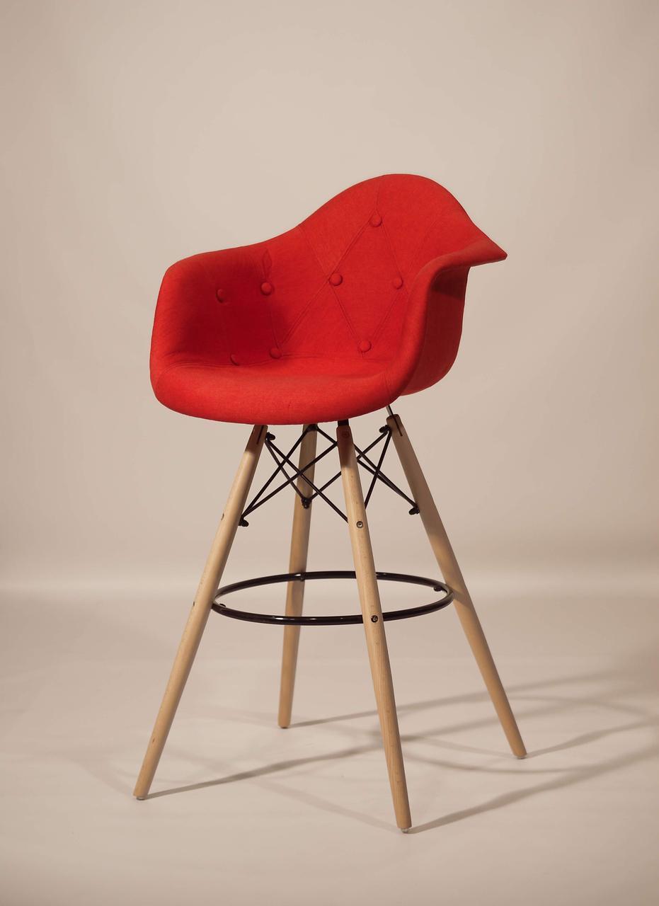 Барное кресло Leon Вискоза, красное