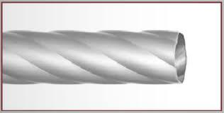 Карнизы кованые-Труба крученая 25мм -сатин-2м