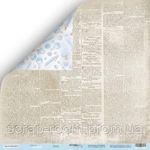 Лист двусторонней бумаги 30x30 от Scrapmir Газета из коллекции Mommy's Hero