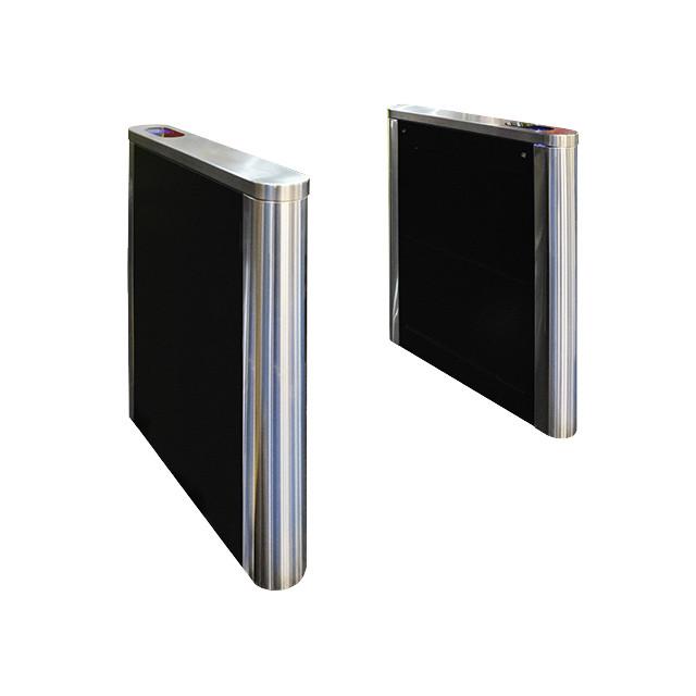Турникет PHANTOM-1 шлифованная нержавеющая сталь, столешницы - черное стекло, правая + левая стойки