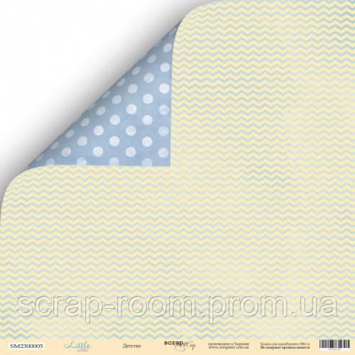 Лист двусторонней бумаги 30x30 от Scrapmir Детство из коллекции Little Bear