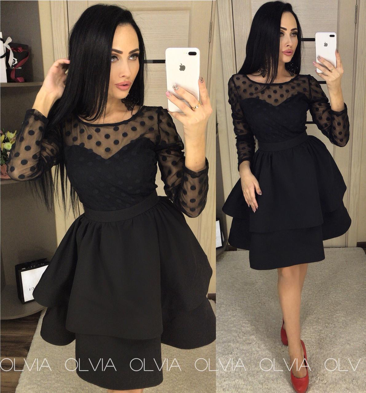d97a7775c8b Платье с пышной двойной юбкой - Магазин женской одежды и аксессуаров в  Украине - Annika.