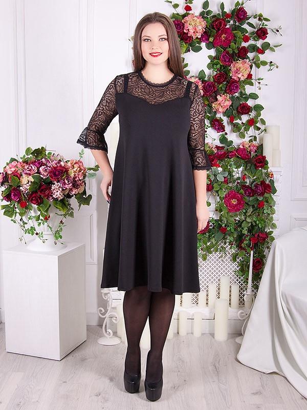 078c442ca87 Вечернее платье с гипюром для полных женщин (48-70) - 700 грн ...