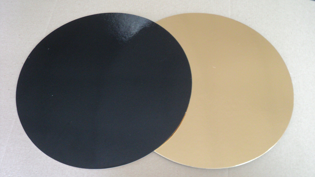 Подложка  круг (золото/черное) d18см.(код 04763)