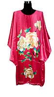 Шелковое  кимоно роза
