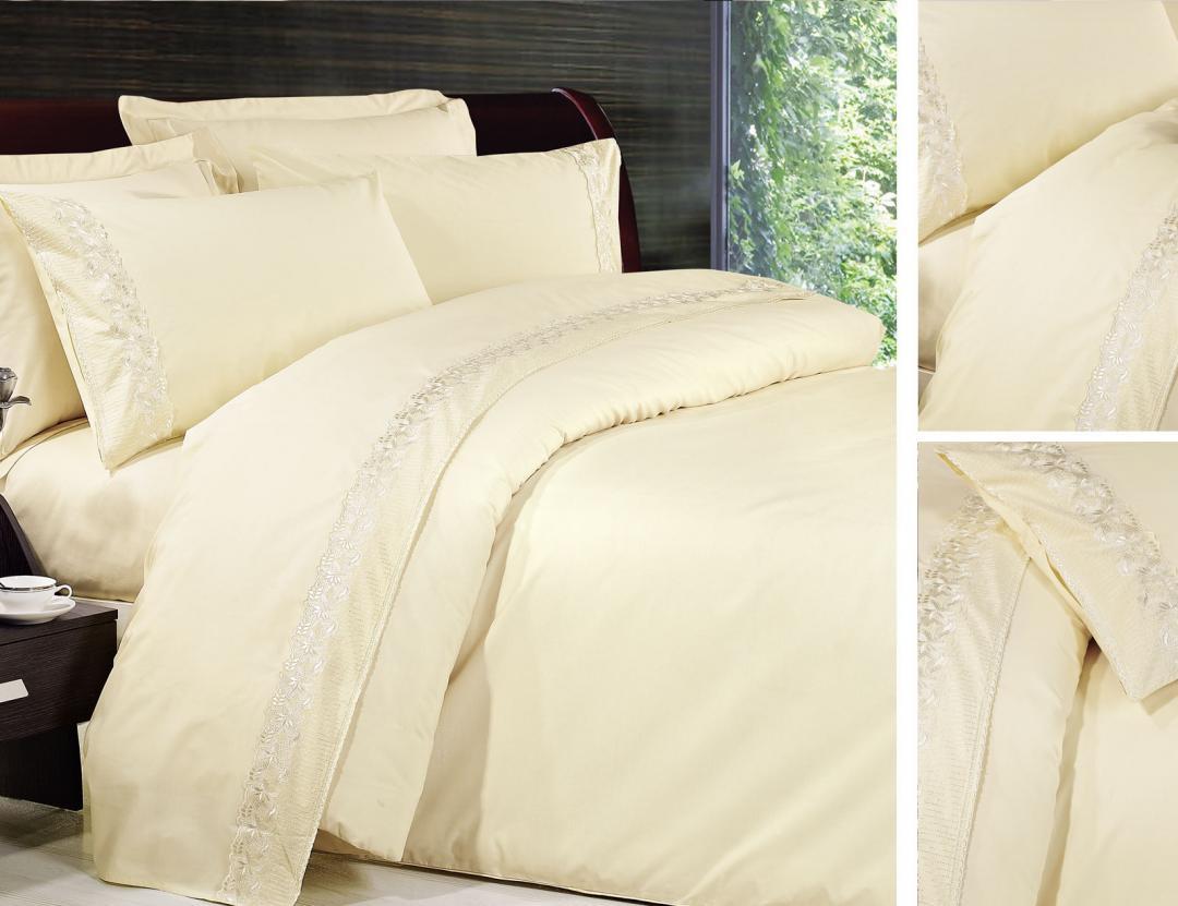 Постельное белье сатин с кружевом  производство Турция торговой марки TIFFANY