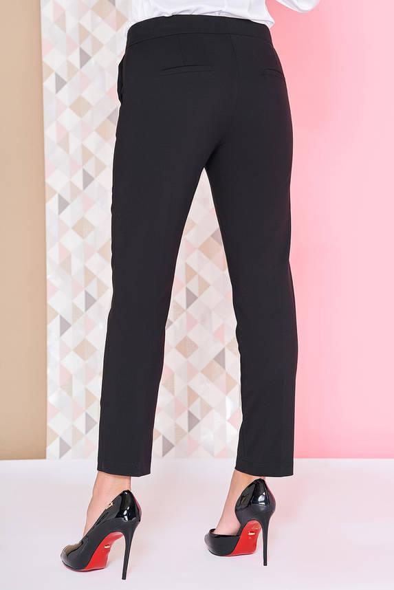 Котоновые укороченные женские брюки черные, фото 2