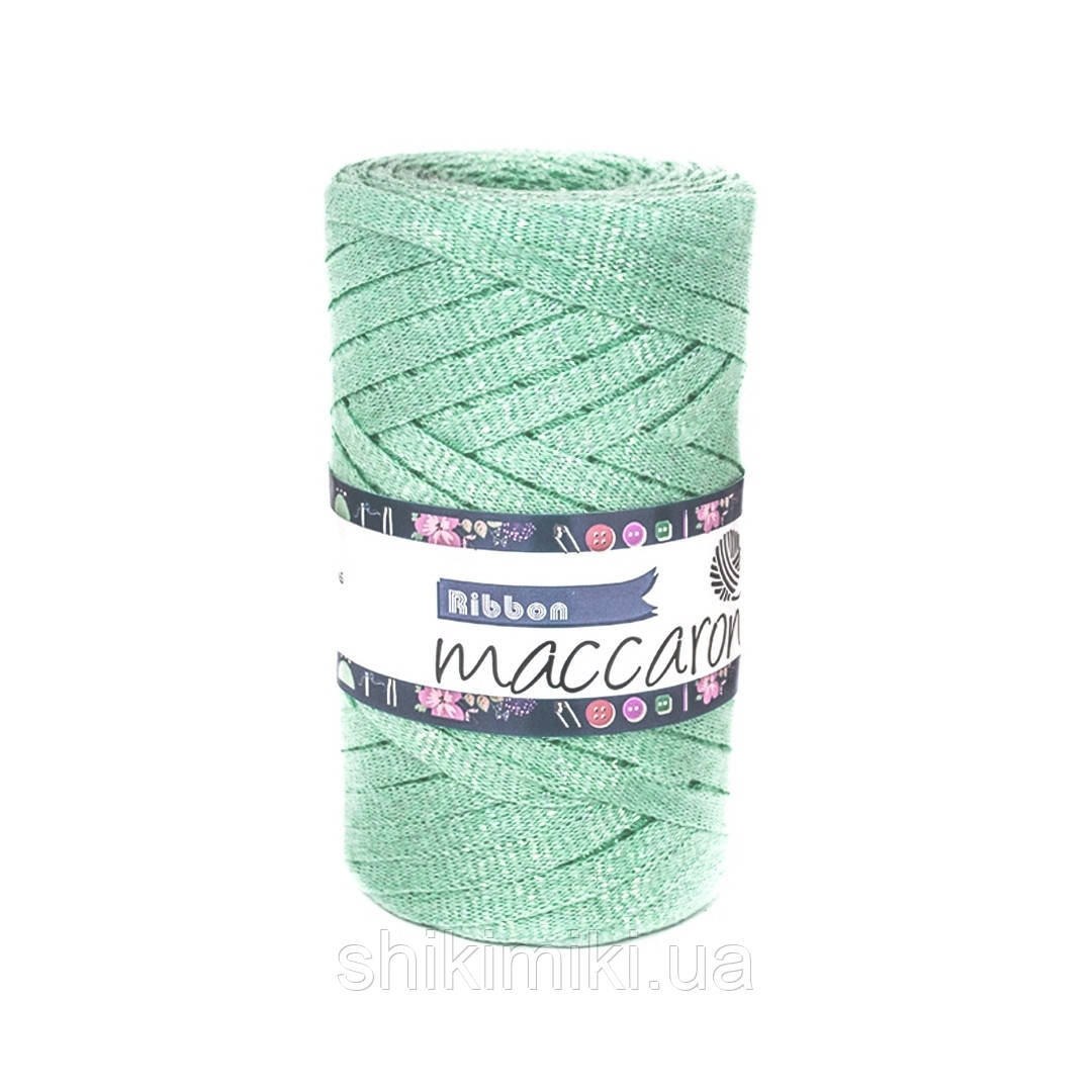Трикотажный плоский шнур Ribbon Glitter, цвет Ментол