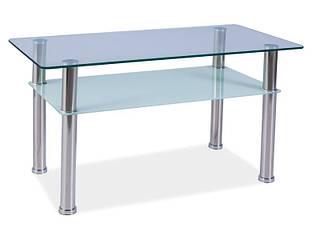 Журнальный столик стеклянный прямоугольный Purio B (Signal)