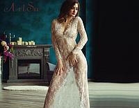 Кружевной белый  пеньюар, платье для фотосессии S,М,L,ХЛ,ХХЛ,ХХХЛ
