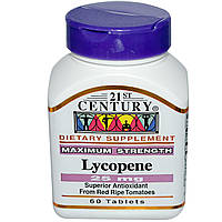 Ликопин (Lycopene), 21st Century Health, 25 мг, 60 таблеток
