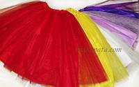 Фатиновая юбка- два слоя фатина, обрезной край.