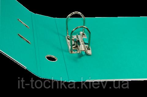 Офисный регистратор А4 buromax bm.3005-06c бирюзово-черный 70мм pp