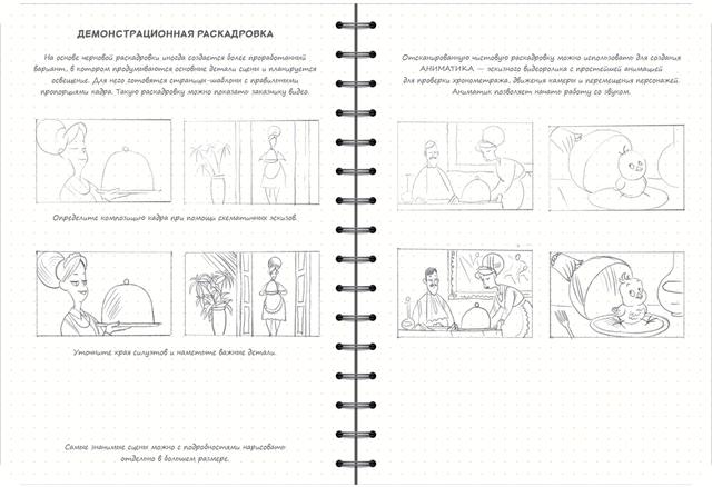 скетчбук аніматора мультиплікатора - розкадровка