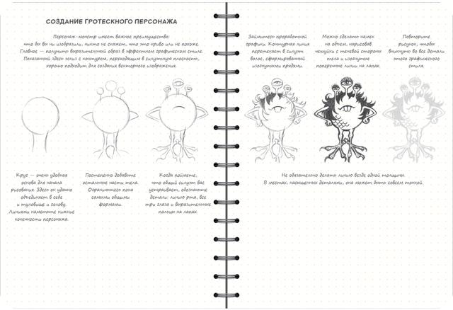скетчбук аніматора мультиплікатора - створення персонажів