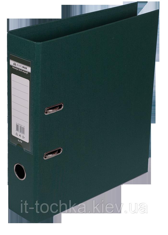 Регистратор двухсторонний А4 elite, ширина торца 70мм, темно-зеленый bm.3001-16c