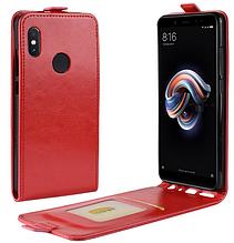 Кожаный чехол флип для Xiaomi Redmi note 5 красный