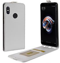 Кожаный чехол флип для Xiaomi Redmi note 5 белый