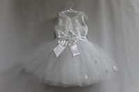 """Нарядное, пышное платье на девочку """"Беленький цветочек"""""""