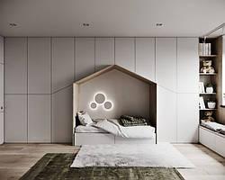 Детская комната домик с встроенным шкафом D-009
