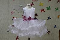 """Нарядное платье на девочку с кружевом """"Нила"""" без рукавов"""
