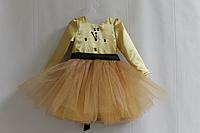 """Нарядное детское платье с рукавами """"Часики"""""""