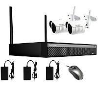 Беспроводная система видеонаблюдения WIFI на 2 камеры Longse WIFI 3604-5Mp Kit 2, 300 метров, 5 Мп, Quad HD