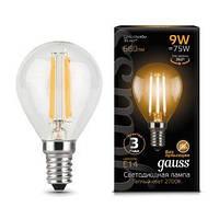 Светодиодная лампа GAUSS Black filament globe P45 9 Вт 2700K E14 150-265 В