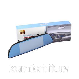 Автомобильный видеорегистратор зеркало 7'' с двумя камерами 701, Full HD 1080P, фото 2