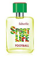 Туалетная вода для мужчин Sportlife Football (Спортлайф Футбол)  Faberlic 50мл. Фруктово-древесный аромат.