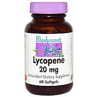 Ликопин (Lycopene), Bluebonnet Nutrition, 20 мг, 60 гелевых капсул