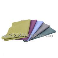 Professional Hatha yoga linen rubber mat, 183х61 см, 1,5 мм
