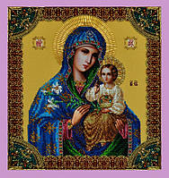 """Набор для вышивки бисером Икона Божией Матери """"Неувядаемый цвет"""" P-203"""