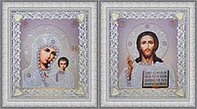 Набор для вышивки бисером Набор венчальных икон (серебро) Р-366