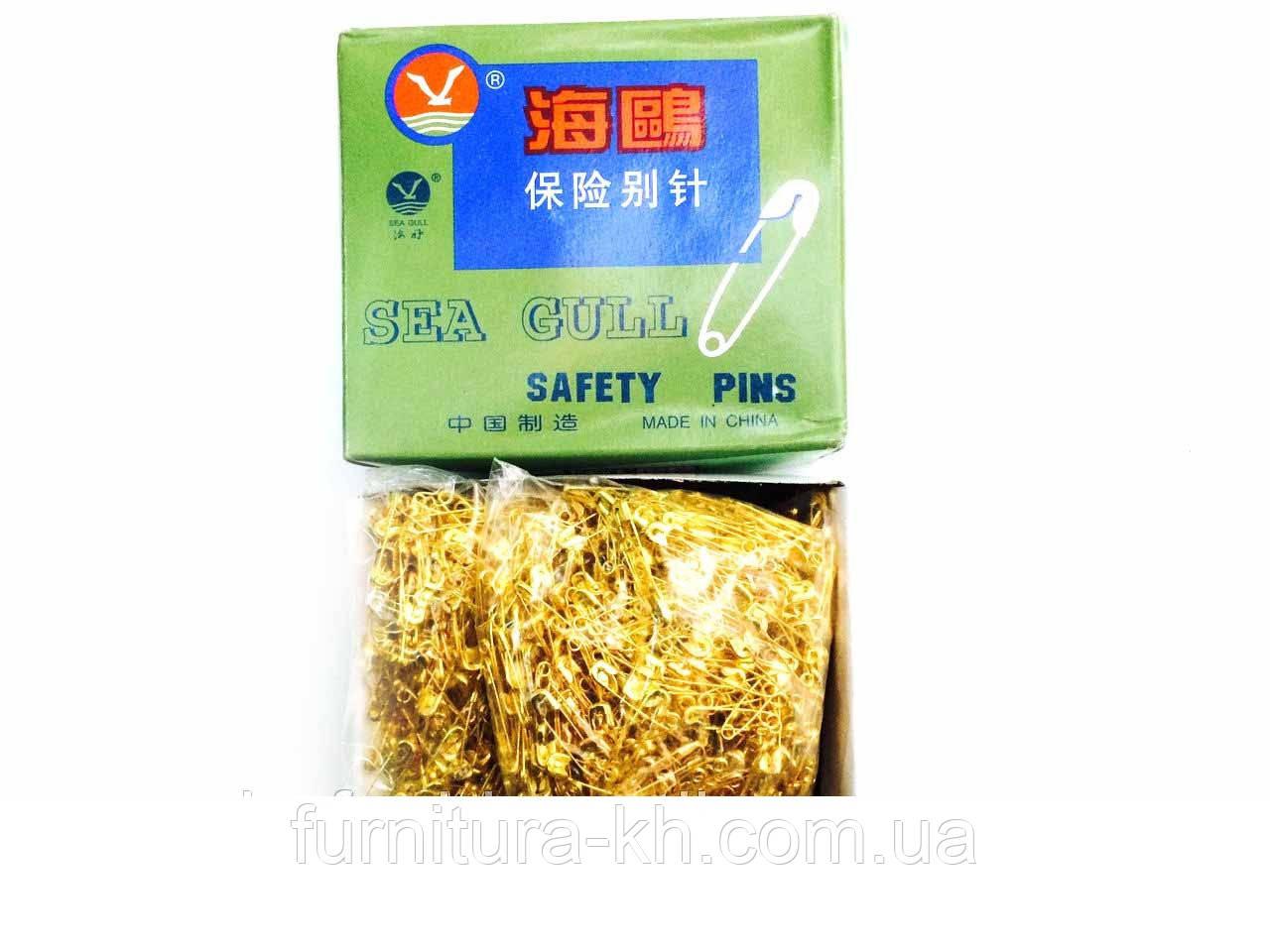 Булавки золото №2, (длина 20 мм),2000 шт. в упаковке