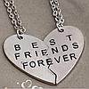 """Парные кулоны для друзей """"Best friends"""""""