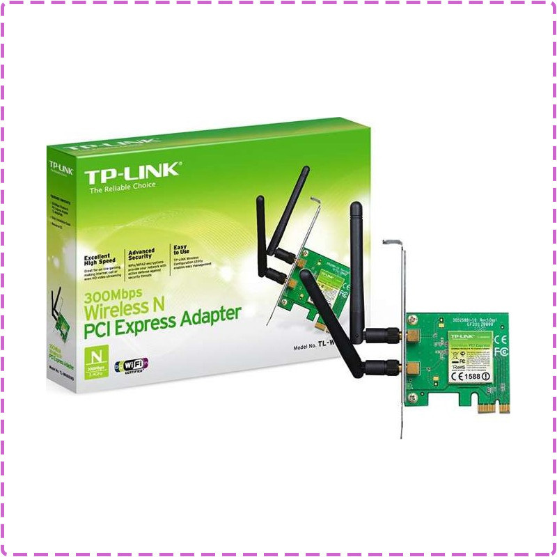WiFi адаптер PCI-E TP-LINK TL-WN881ND 300Mb, вай фай адаптер, wi fi адаптер