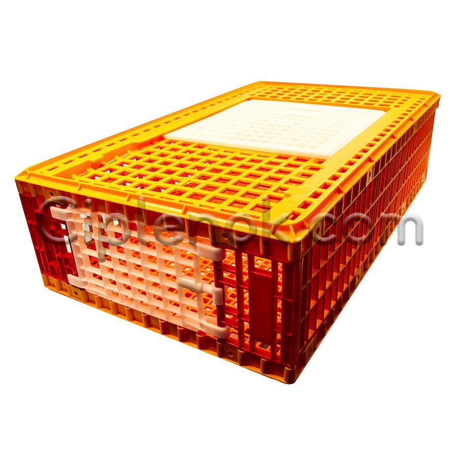 Ящик для перевозки птицы с верхней и боковой дверцами 96х55х27