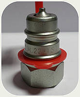 """БРС - Коннектор """"AL-Мale"""" (папа) красный, резьба M16x1,5"""