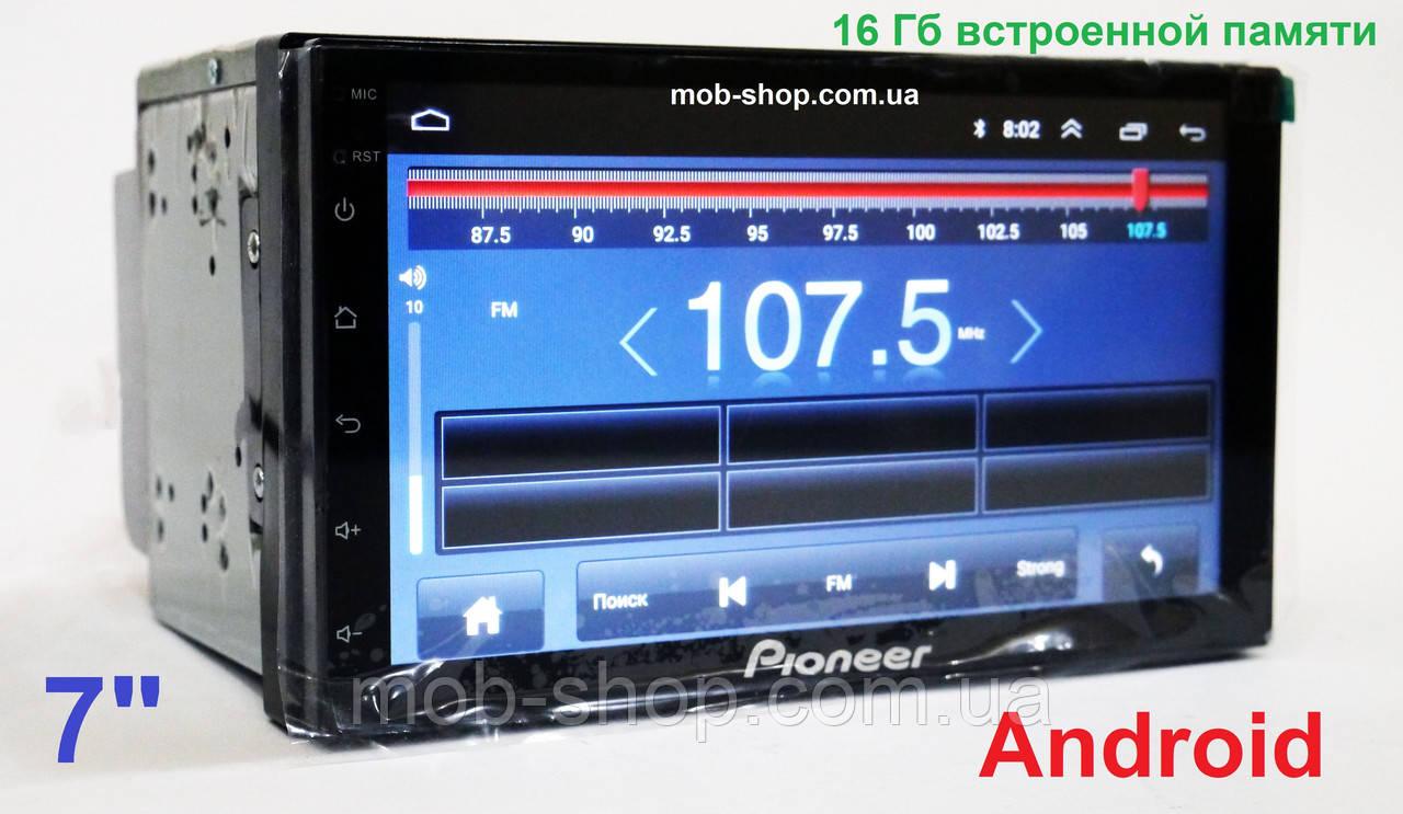 Автомагнитола пионер Pioneer 4S 2din Android GPS+1/16 Гб+4 Ядра