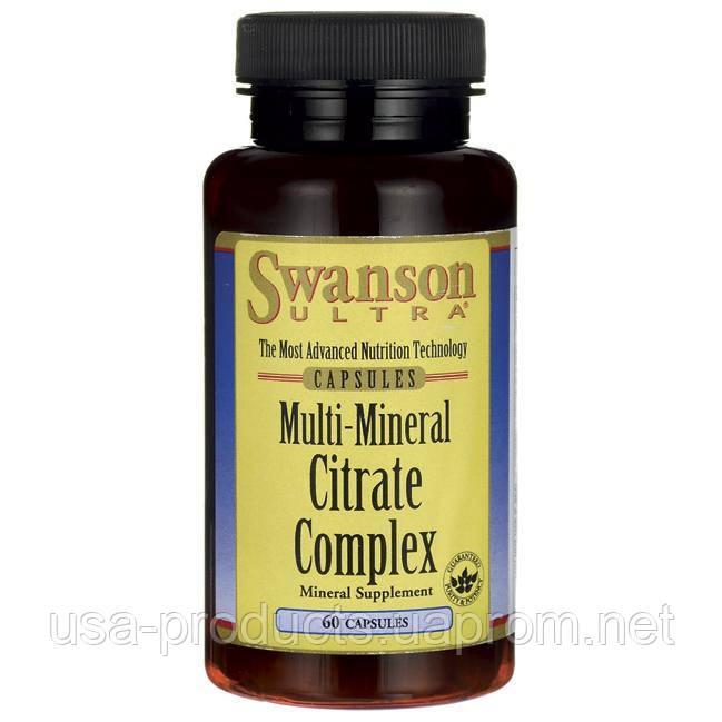 Мультиминеральный цитратный комплекс ( кальций, магний, цинк, калий ) 60 капсул