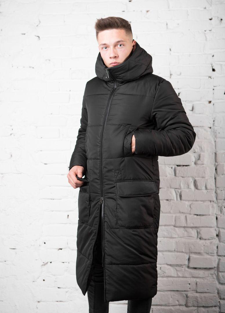 Мужское зимнее пальто с капюшоном! о